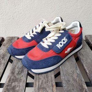 """Vintage Kangaroos """"Roos"""" Blue & Red Sneakers - 7.5"""